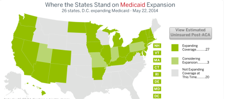 Medicaid ACA status by state